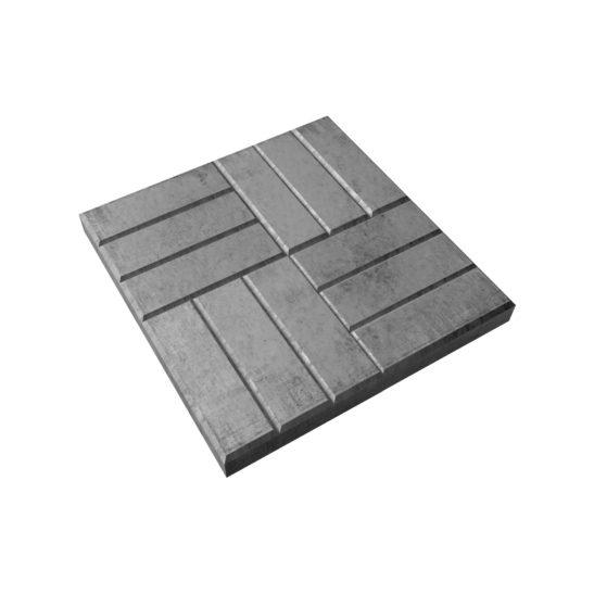 Тротуарная плитка «12 кирпичей» 400х400х50 мм.