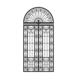 Дверная железная решетка кованая