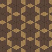 Ромб горчичный и коричневый цвет