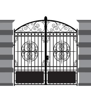 Металлические ворота кованые