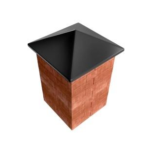 Бетонный колпак черного цвета для установки на забор