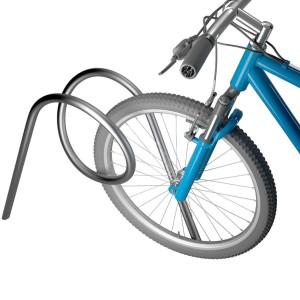 Металлическая конструкция для велосипедной парковки зигзаг