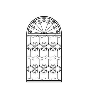 Оконная железная решетка кованая