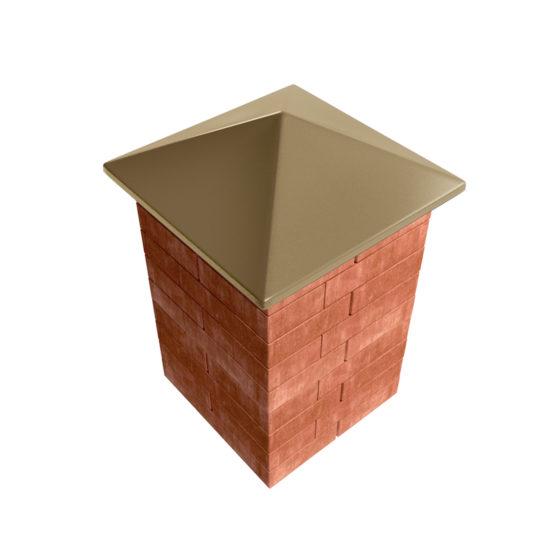 бетонный колпак четырехскатный горчичный