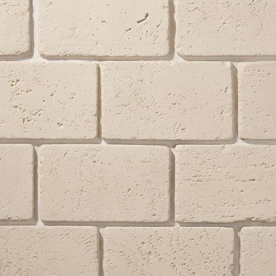 Цокольная плитка Травертин белый