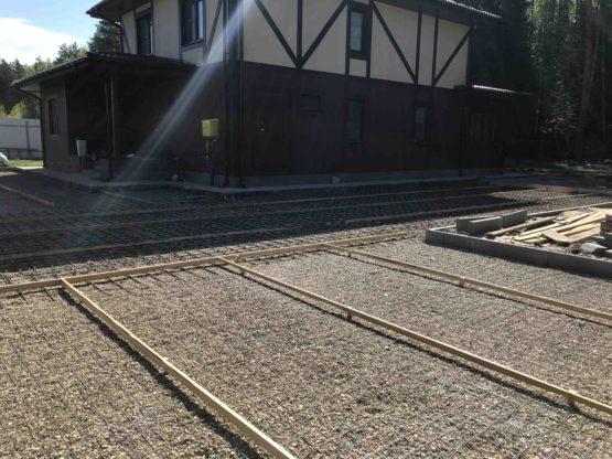 Армирование бетонной площадки в Ногинском районе
