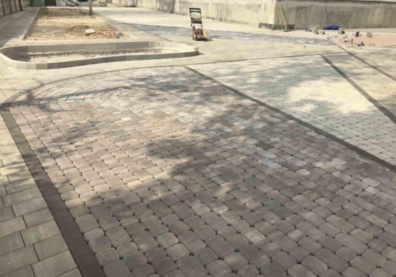 Укладка тротуарной плитки в Дмитровском районе. Лобня.
